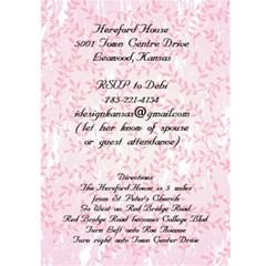 Rehersal Dinner By Debi Ramlow   Greeting Card 5  X 7    Oearilvc6n4s   Www Artscow Com Front Inside