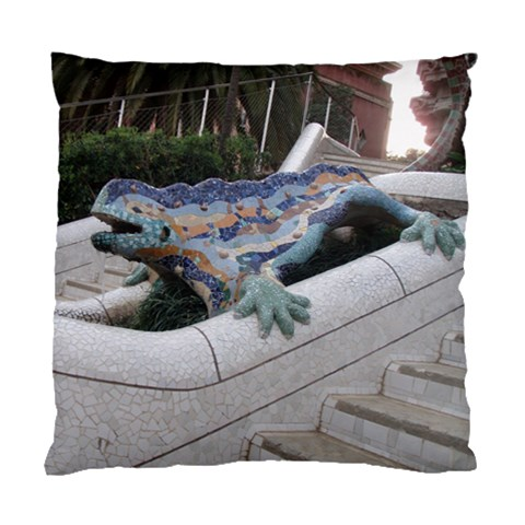 Lizard In Park Guell Barcelona By Trine   Standard Cushion Case (one Side)   Qnvjrroy14sv   Www Artscow Com Front