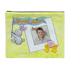 Happy Easter Extra large Cosmetic Bag by Catvinnat Front