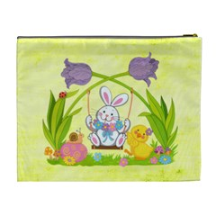 Happy Easter Extra large Cosmetic Bag by Catvinnat Back