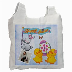 Easter Egg Hunt Recycle Bag 2 Sides By Catvinnat   Recycle Bag (two Side)   Cdrps5o33w17   Www Artscow Com Front