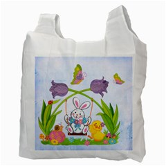 Easter Egg Hunt Recycle Bag 2 Sides By Catvinnat   Recycle Bag (two Side)   Cdrps5o33w17   Www Artscow Com Back