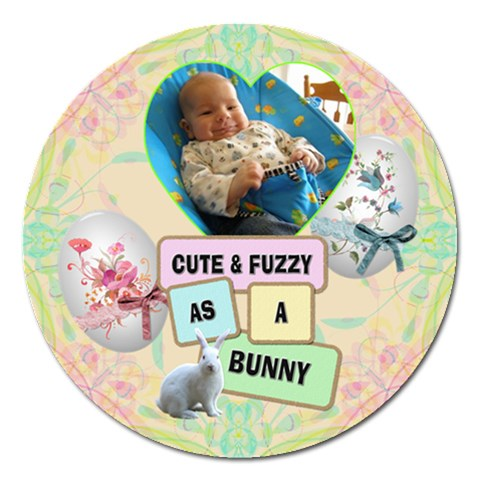 Cute & Fuzzy 5  Magnet By Lil    Magnet 5  (round)   Mapak30bfylj   Www Artscow Com Front