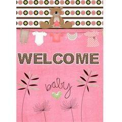 Baby Girl Card By Kelli   Greeting Card 5  X 7    Qht3res5vlk9   Www Artscow Com Front Cover