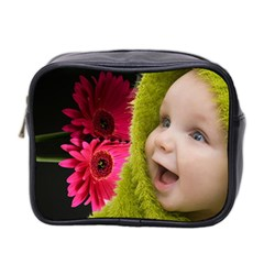 Gerbera   Mini Toiletries Bag By Elena Petrova   Mini Toiletries Bag (two Sides)   Vvwuv7uano3i   Www Artscow Com Front