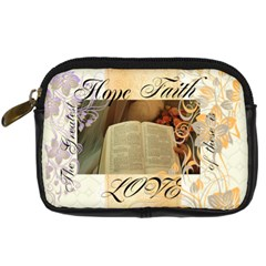 Hope, Faith, Love By Robin Mersereau   Digital Camera Leather Case   Aakvtmxixokn   Www Artscow Com Front