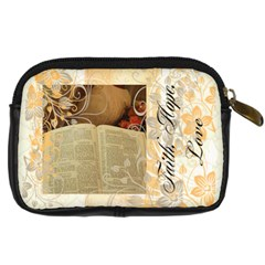 Hope, Faith, Love By Robin Mersereau   Digital Camera Leather Case   Aakvtmxixokn   Www Artscow Com Back