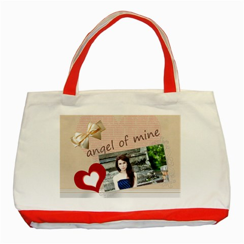 Angel Of Mine By Joely   Classic Tote Bag (red)   Suao86ez1bc1   Www Artscow Com Front