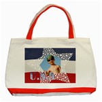 U.s.a - Classic Tote Bag (Red)