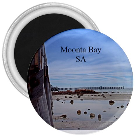 Moonta Bay Jetty 3  Magnet By Chris   3  Magnet   K4n6m54sbdmu   Www Artscow Com Front