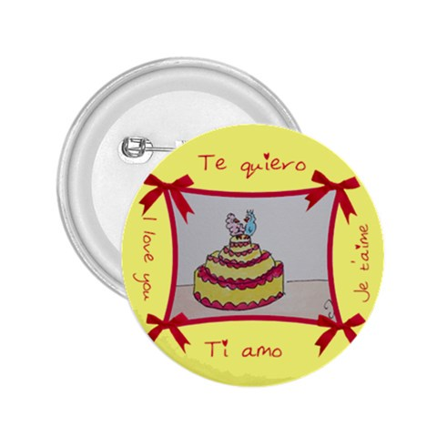 I Love The Cake By Trine   2 25  Button   Zkuhsxjs77pn   Www Artscow Com Front