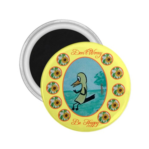 Don t Worry Be Happy By Trine   2 25  Magnet   K18hhdrsw7sl   Www Artscow Com Front