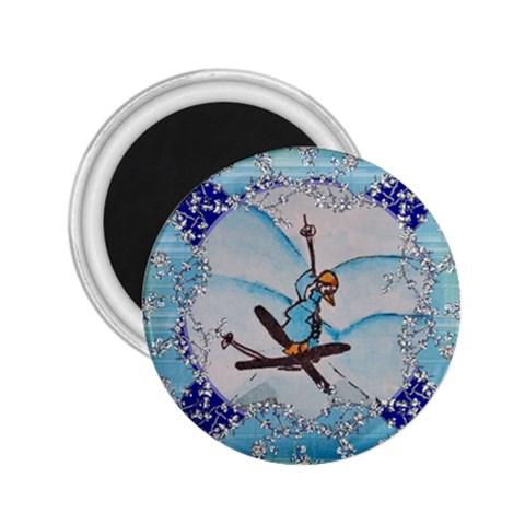 Ski Acrobatics By Trine   2 25  Magnet   Svd6jy7com2w   Www Artscow Com Front