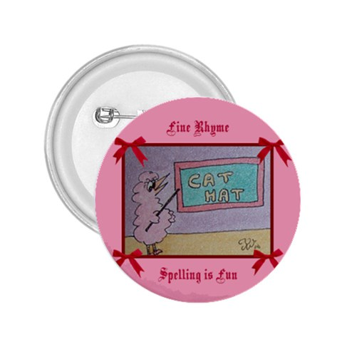 Fine Rhyme Spelling Is Fun By Trine   2 25  Button   Qvrbbdor9nf5   Www Artscow Com Front