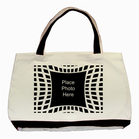 Modern Black And White Tote Bag By Deborah   Basic Tote Bag   Ra6erjkmcio1   Www Artscow Com Front