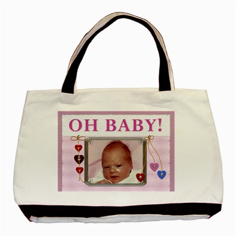 Oh Baby Girl Classic Tote Bag By Lil    Basic Tote Bag   Gua1v1rctudr   Www Artscow Com Front