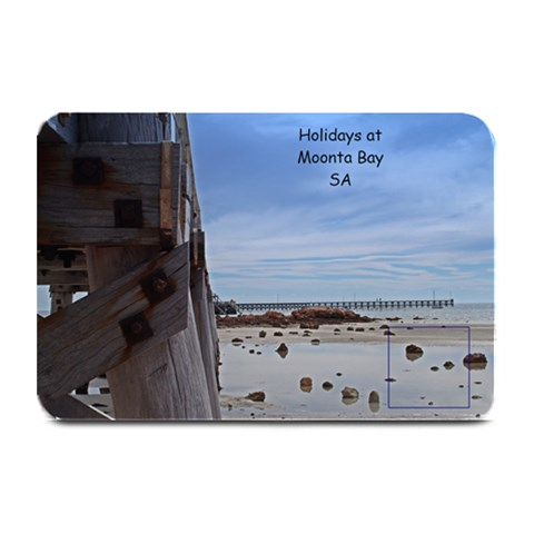 holiday at moonta bay place mat by Chris 18 x12 Plate Mat - 1