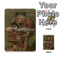 Aether Captains: Capek Golems By Todd Sanders   Multi Purpose Cards (rectangle)   Z3o6m6uai70u   Www Artscow Com Back 12