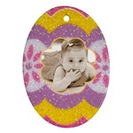 Easter Egg oval ornament - Ornament (Oval)