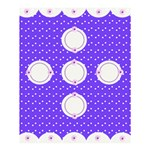 Purple dots shower curtain - Shower Curtain 60  x 72  (Medium)