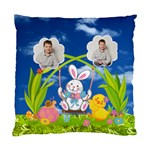 Easter Egg Hunt Bunny single sided cushion - Standard Cushion Case (One Side)
