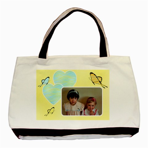 Love Sweet Butterflies Tote Bag By Deborah   Basic Tote Bag   Euc6rgobszyn   Www Artscow Com Front