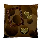 Love 19 Gold Circles Custom Cushion Case  - Cushion Case (One Side)