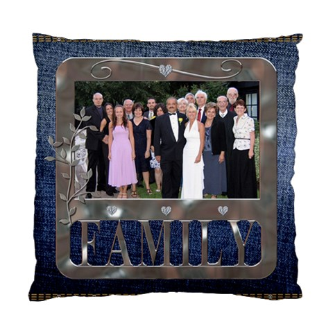 Denim Family Cushion Case By Lil    Standard Cushion Case (one Side)   H02usffxuzec   Www Artscow Com Front