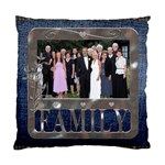 Denim Family Cushion Case - Standard Cushion Case (One Side)