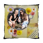 Friends & Flowers Cushion Case - Standard Cushion Case (One Side)