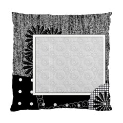 Cushion Case   2 Sides   Black&white By Angel   Standard Cushion Case (two Sides)   350y1xda12gh   Www Artscow Com Front