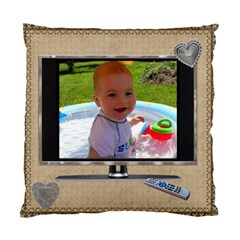 On Tv 2 Sided Cushion Case By Lil    Standard Cushion Case (two Sides)   7hjgcfyyxbc1   Www Artscow Com Back