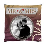 Mr. & Mrs. 2-Sided Cushion Case - Cushion Case (Two Sides)