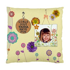 Girl Power 2 Sided Cushion Case By Lil    Standard Cushion Case (two Sides)   D1t5hvmkkoc7   Www Artscow Com Back