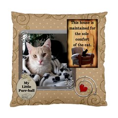 My Little Purr Ball 2 Sided Cushion Case By Lil    Standard Cushion Case (two Sides)   3ijw3wzbzpmx   Www Artscow Com Front