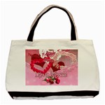 Love Notes pink tote with 2 frames - Classic Tote Bag
