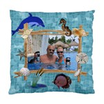 Ocean Blue 2-Sided Cushion Case - Standard Cushion Case (Two Sides)