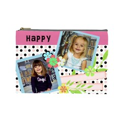 Mothers Day Cosmetic Bags By Joanna   Cosmetic Bag (large)   1g4df0b9pvem   Www Artscow Com Front
