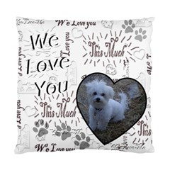 I Heart You This Much Black White Double Cushion Case By Ellan   Standard Cushion Case (two Sides)   5k4gjqgyqgnb   Www Artscow Com Front