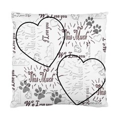 I Heart You This Much Black White Double Cushion Case By Ellan   Standard Cushion Case (two Sides)   5k4gjqgyqgnb   Www Artscow Com Back