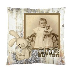 Baby Mine Cute As A Button Double Sided Cushion By Catvinnat   Standard Cushion Case (two Sides)   5ybrr2rkrmh2   Www Artscow Com Back