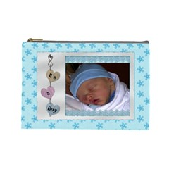 It s A Boy Large Cosmetic Bag By Lil    Cosmetic Bag (large)   Lwwmrsa0xjmw   Www Artscow Com Front