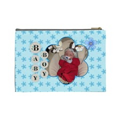 It s A Boy Large Cosmetic Bag By Lil    Cosmetic Bag (large)   Lwwmrsa0xjmw   Www Artscow Com Back