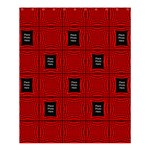 Black and Red Medium Shower Curtain(large file) - Shower Curtain 60  x 72  (Medium)