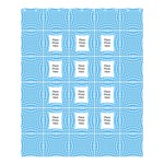 Meduim White and Blue Shower Curtain (large File) - Shower Curtain 60  x 72  (Medium)