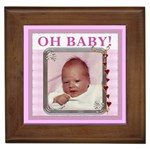 Oh Baby Girl Framed Tile