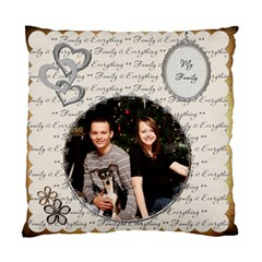 My Family 2 Sided Cushion Case By Lil    Standard Cushion Case (two Sides)   Jyat8g3qglls   Www Artscow Com Front