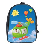 Helicoptor Pilot Schoolbag Backpack large - School Bag (Large)