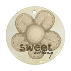Sweet Nothings Double Sided Flower Ornament By Catvinnat   Round Ornament (two Sides)   Ucen6z4k1fgu   Www Artscow Com Front