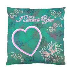 I Heart You This Much Aqua Double Sided Cushion Case By Ellan   Standard Cushion Case (two Sides)   Usvi2ikxnswr   Www Artscow Com Front